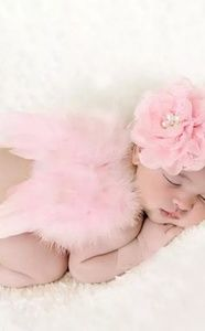 Newborn Feather Wings Baby Angel Wings with Headba